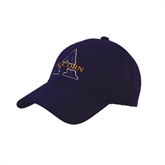 Purple Heavyweight Twill Pro Style Hat-Alcorn Official Logo