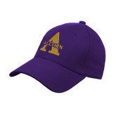 Purple Heavyweight Twill Pro Style Hat-Alcorn A