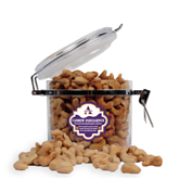 Cashew Indulgence Round Canister-Alcorn Official Logo