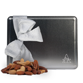 Deluxe Nut Medley Silver Large Tin-Alcorn Engrave