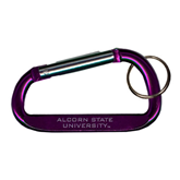 Purple Carabiner with Split Ring-Alcorn State University Engrave