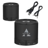 Wireless HD Bluetooth Black Round Speaker-Alcorn A  Engraved