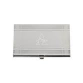 Crosshatch Silver Business Card Holder-Alcorn Engrave