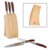 Laguiole 5 Piece Knife Block Set-Alcorn A  Engraved