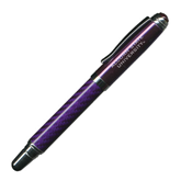 Carbon Fiber Purple Rollerball Pen-Alcorn State University Engrave