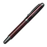 Carbon Fiber Maroon Rollerball Pen-Alcorn State University Engrave