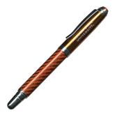 Carbon Fiber Orange Rollerball Pen-Alcorn State University Engrave