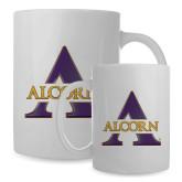 Full Color White Mug 15oz-Alcorn Official Logo