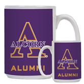 Alumni Full Color White Mug 15oz-Alcorn Official Logo