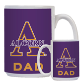 Dad Full Color White Mug 15oz-Alcorn Official Logo