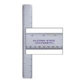 12 Inch White Plastic Ruler-Alcorn State University