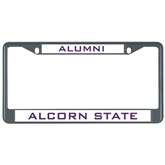 Metal License Plate Frame in Black-ALumni