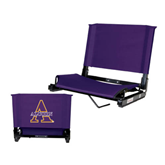 Stadium Chair Purple-Alcorn Official Logo