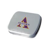 Silver Rectangular Peppermint Tin-Alcorn Official Logo