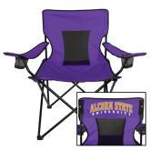 Deluxe Purple Captains Chair-Alcorn Official Logo