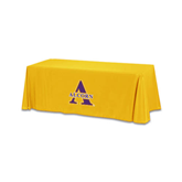 Gold 6 foot Table Throw-Alcorn Official Logo