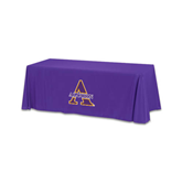 Purple 6 foot Table Throw-Alcorn Official Logo