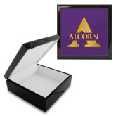 Ebony Black Accessory Box With 6 x 6 Tile-Alcorn A
