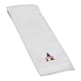 White Golf Towel-Alcorn Official Logo