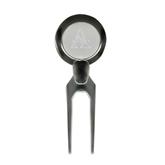 Alcorn Silver Divot Tool/Ball Marker-Alcorn Engrave