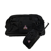 Urban Passage Wheeled Black Duffel-Alcorn Official Logo