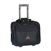 Embassy Plus Rolling Black Compu Brief-Alcorn Official Logo