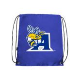 Royal Drawstring Backpack-A Logo