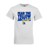 White T Shirt-Fear the Yellow Jackets