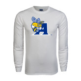 White Long Sleeve T Shirt-A Logo