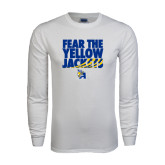 White Long Sleeve T Shirt-Fear the Yellow Jackets