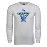 White Long Sleeve T Shirt-2016 A.I.I. NAIA Tournament Champions Mens Basketball