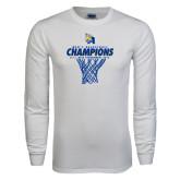 White Long Sleeve T Shirt-2016 A.I.I. NAIA Tournament Champions Mens Basketball