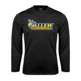 Performance Black Longsleeve Shirt-Official Logo