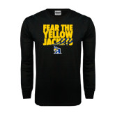 Black Long Sleeve TShirt-Fear the Yellow Jackets