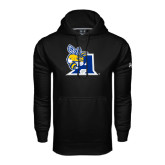 Under Armour Black Performance Sweats Team Hoodie-A Logo