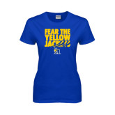 Ladies Royal T-Shirt-Fear the Yellow Jackets