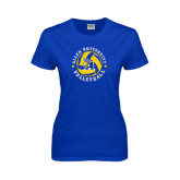Ladies Royal T-Shirt-Logo in Volleyball