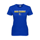 Ladies Royal T-Shirt-Stacked words Cross Country