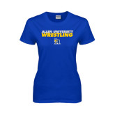 Ladies Royal T-Shirt-Stacked words Wrestling