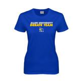 Ladies Royal T Shirt-Stacked words Debate Team