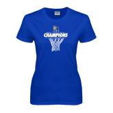 Ladies Royal T-Shirt-2016 A.I.I. NAIA Tournament Champions Mens Basketball