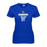 Ladies Royal T Shirt-2016 A.I.I. NAIA Tournament Champions Mens Basketball