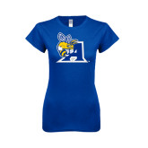 Next Level Ladies SoftStyle Junior Fitted Royal Tee-A Logo