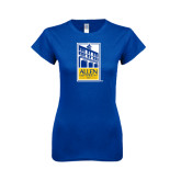 Next Level Ladies SoftStyle Junior Fitted Royal Tee-Edu Mark