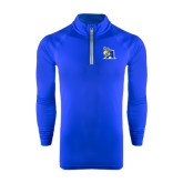 Under Armour Royal Tech 1/4 Zip Performance Shirt-A Logo