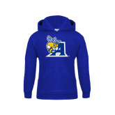 Youth Royal Fleece Hoodie-A Logo