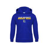 Youth Royal Fleece Hoodie-Stacked words Debate Team