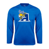 Performance Royal Longsleeve Shirt-A Logo