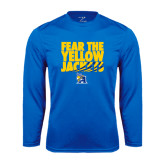 Performance Royal Longsleeve Shirt-Fear the Yellow Jackets