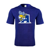 Performance Royal Heather Contender Tee-A Logo